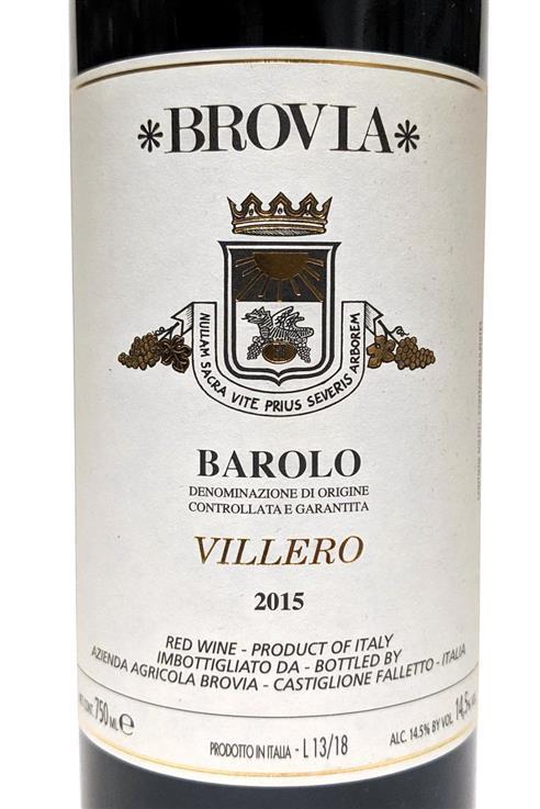 Barolo Villero 2015 Brovia