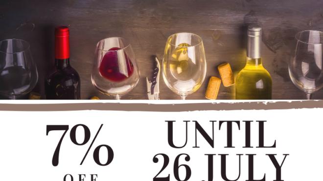 7% off until 26 july