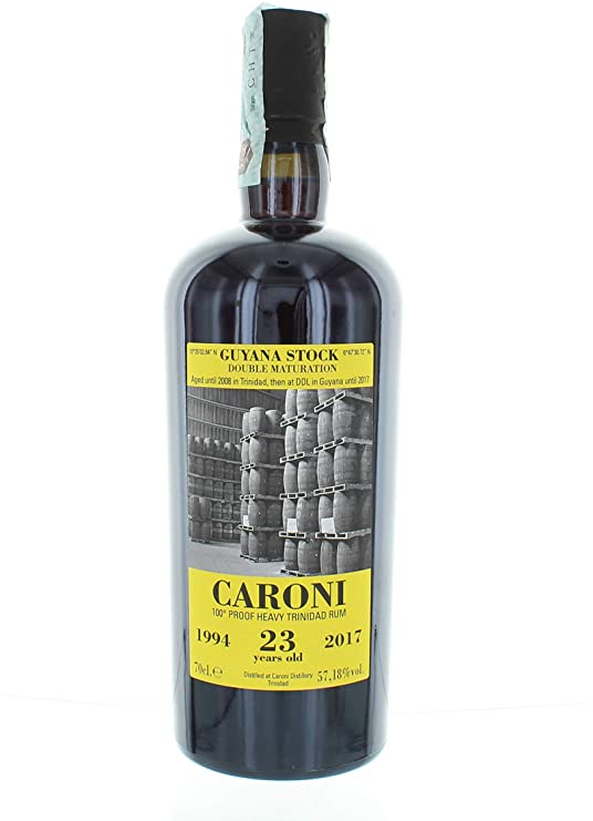 Caroni Guyana Stock Double Maturation 1994 aged 23 Years old Rum