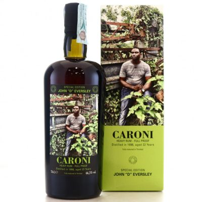 "Caroni John ""D"" Eversley 1996 aged 22 Years old Rum"