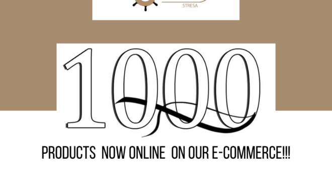 1000 products online on our e-commerce!