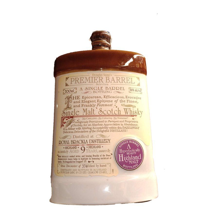 Douglas Laing's a Single Barrel Royal Brackla Distillery 9 Years 700ml