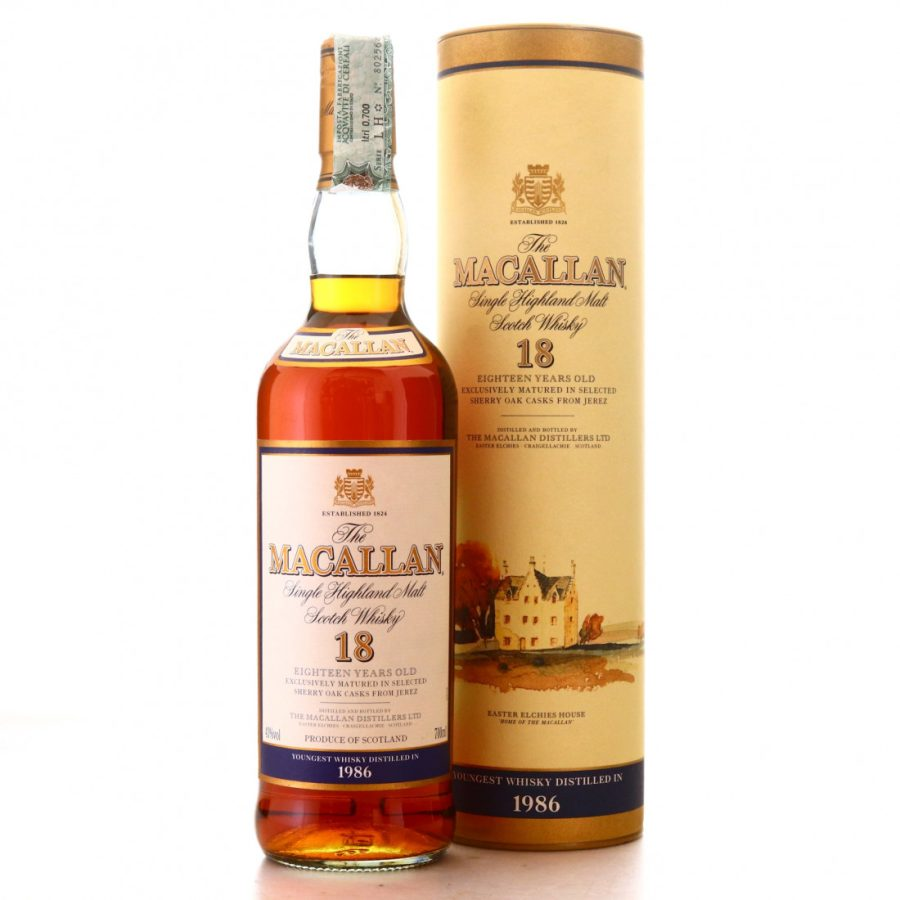 Macallan 1986 aged 18 years