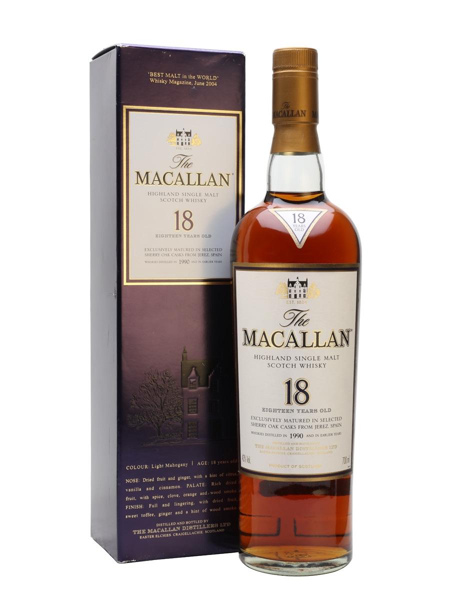 Macallan 1990 aged 18 years