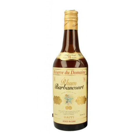 Barbancourt Réserve du Domaine 15 years Aged in Oak Haiti rum