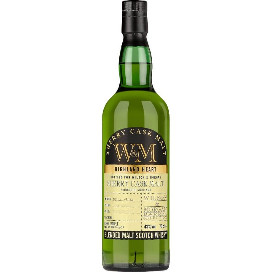 W&M Wilson & Morgan Sherry cask Malt distilled 2013 bottled 2019