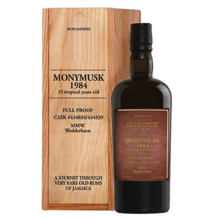 Monymusk 1984 Full Proof 69% 35 Tropical years old Rum Sapiens