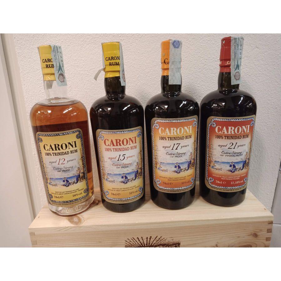 Four Caroni Rum 12 - 15 - 17 - 21 Years