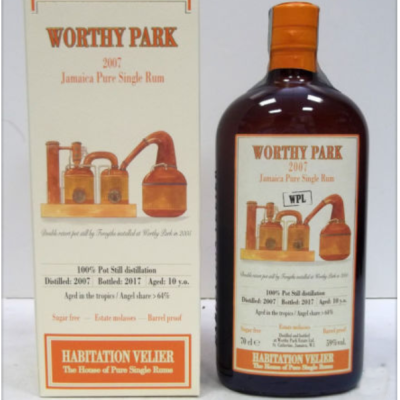 Worthy Park 2007 WPL Jamaica Pure Single Rum Habitation Velier