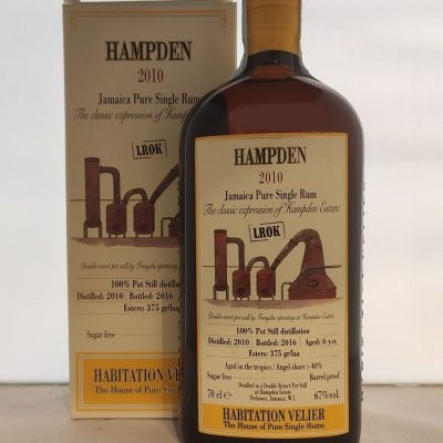 Hampden 2010 LROK Jamaica Pure Single Rum Habitation Velier