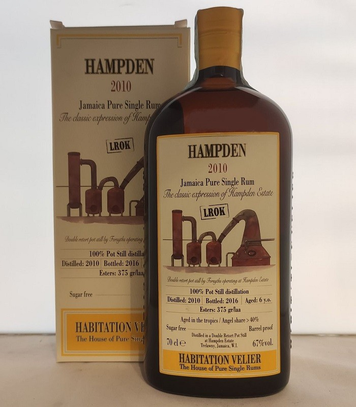 Hampden 2010 LROK Jamaica Pure Single Rum Habitation Velier