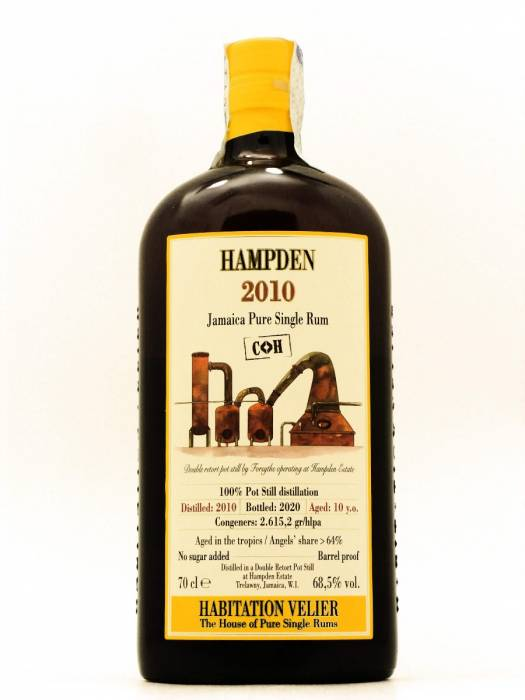 Hampden 2010 COK Jamaica Pure Single Rum Habitation Velier