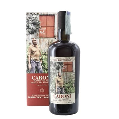Caroni 2000 Basdeo Dicky Ramsarran age 20 years old Rum Full Proof