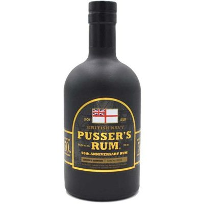 Pusser's rum 50th anniversary British Navy Limited Edition. Bot. num. 3892