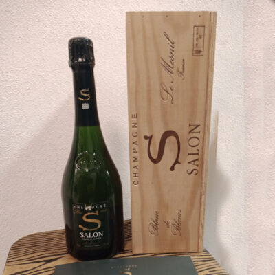 Le Mesnil Champagne 1999 Salon Blanc de Blancs Label as shown in the photo