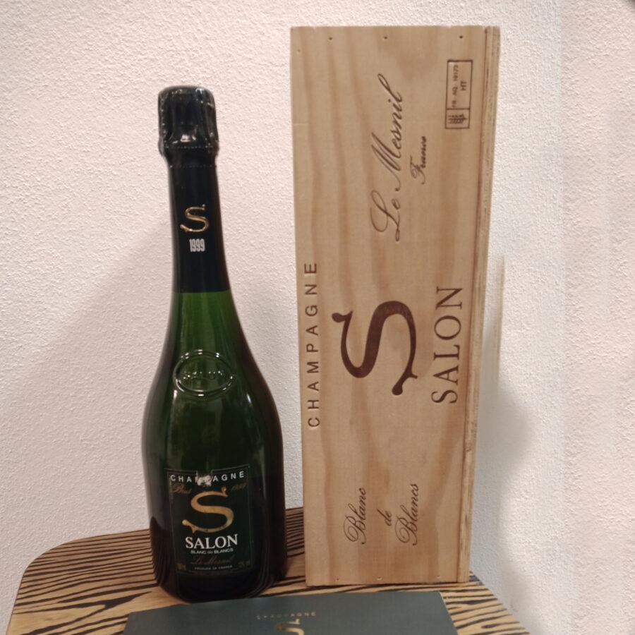 Le Mesnil Champagne 1999 Salon Blanc de Blancs Label as shown in the photo