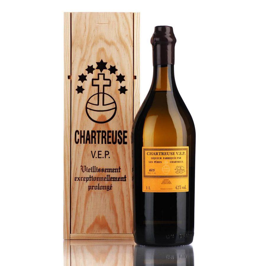 Chartreuse V.E.P. 1 Litre 42% Yellow