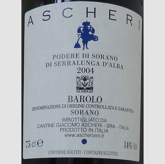 Barolo Sorano 2004 Ascheri