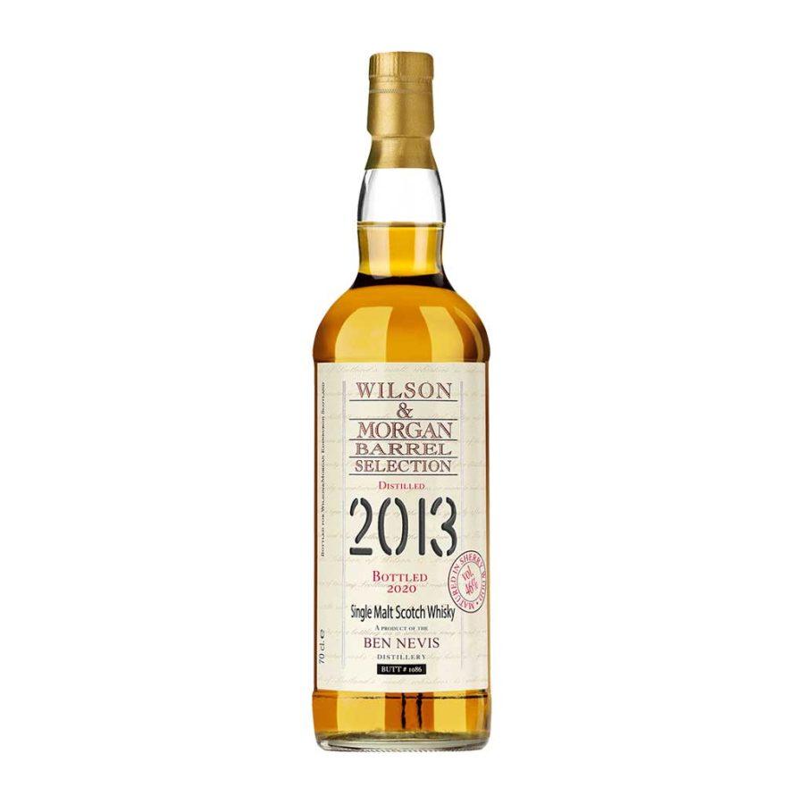 Wilson & Morgan barrel selection distilled 2013 Bottled 2020 Ben Nevis Whisky