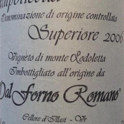 Valpolicella Superiore Cellore d'Illasi 2006 Dal Forno Romano
