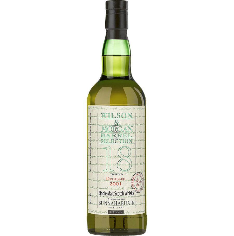 Wilson & Morgan barrel selection 18 distilled 2001 Bunnahabhain Whisky