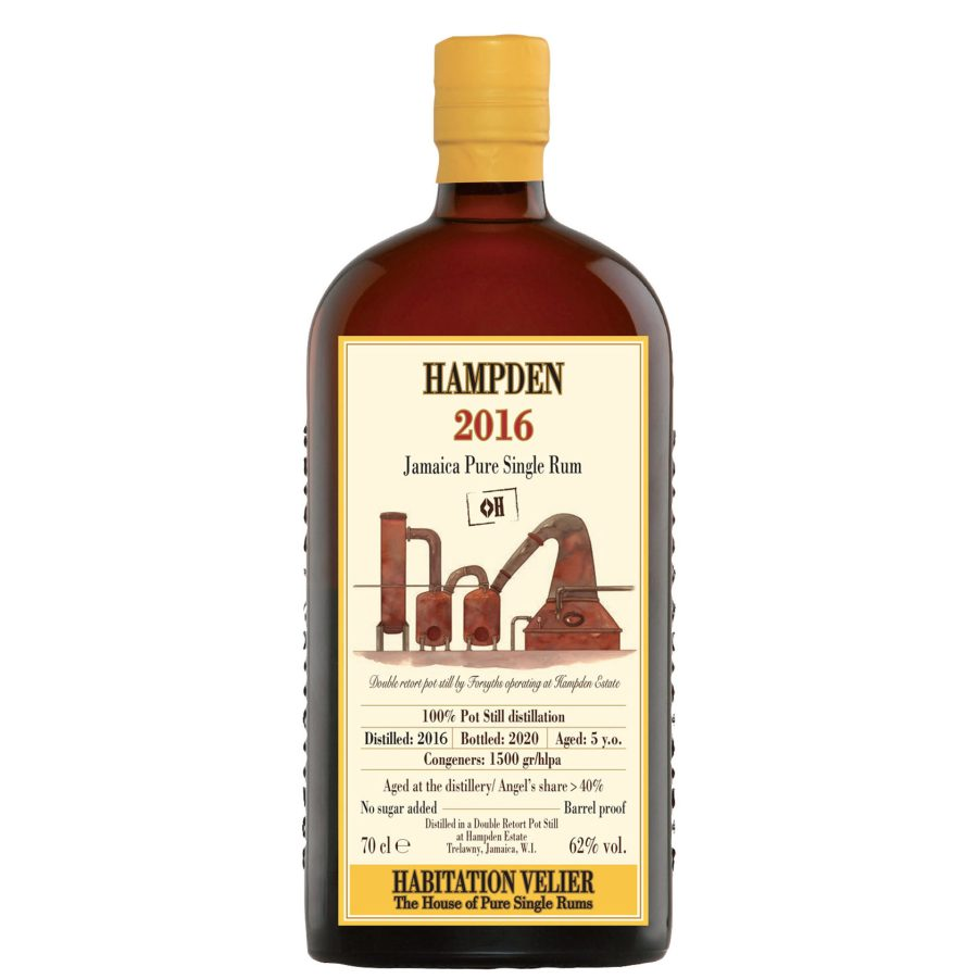 Hampden 2016 Aged 5 Years Jamaica Pure Single Rum Habitation Velier