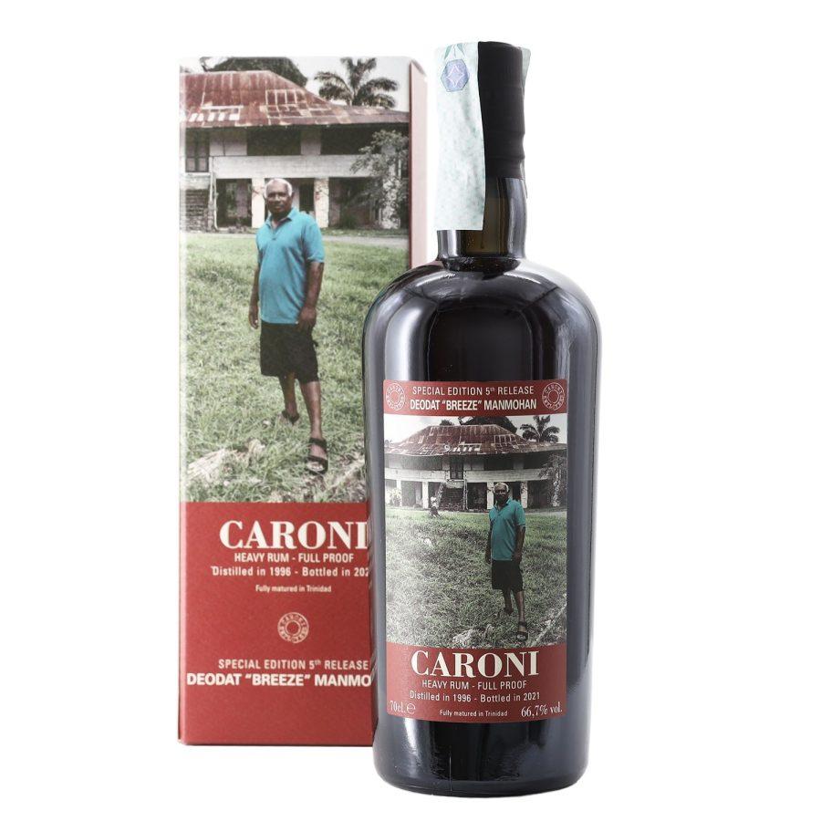 "Caroni Deodat ""Breeze"" Manmohan 1996 Bottled 2021 Heavy Rum Full Proof"